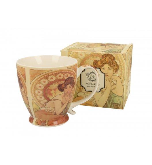 WYPRZEDAŻ! DUO TOPAZ Kubek na stopce 480 ml / inspirowany dziełami Alphonse'a Muchy / porcelana