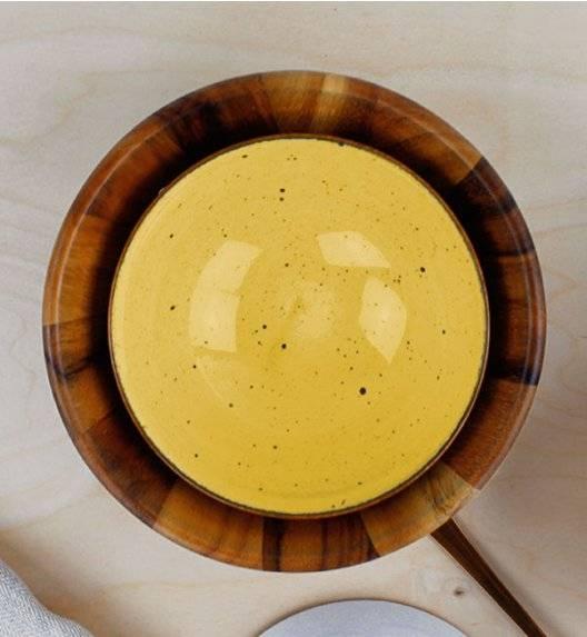 LUBIANA BOSS 6630J Salaterka 15 cm / żółta / porcelana ręcznie malowana