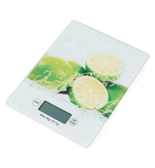 TADAR Elektroniczna waga kuchenna szklana / limonka