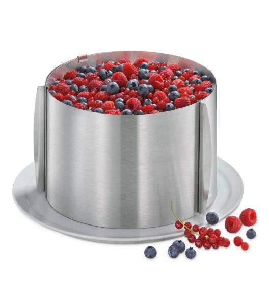 KUCHENPROFI Regulowana obręcz do ciast ⌀ 16-30 cm wysoka / stal nierdzewna