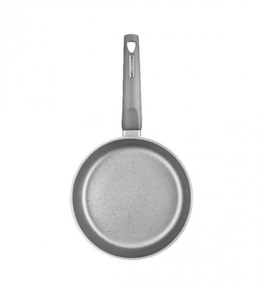 AMBITION MAGNAT GRAY Patelnia 22 cm z powłoką Qualum Basic Stone / indukcja + przekładka filcowa