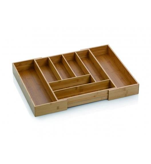 KELA Bambusowy wkład do szuflady na sztućce / rozsuwany