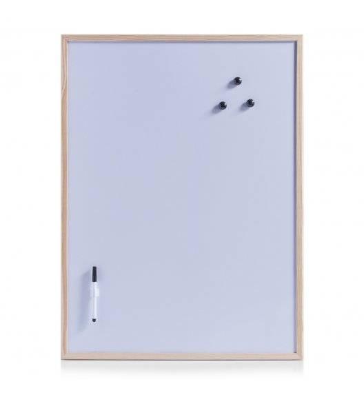 ZELLER Tablica magnetyczna do pisania 60 x 80 cm / drewno sosnowe, metal