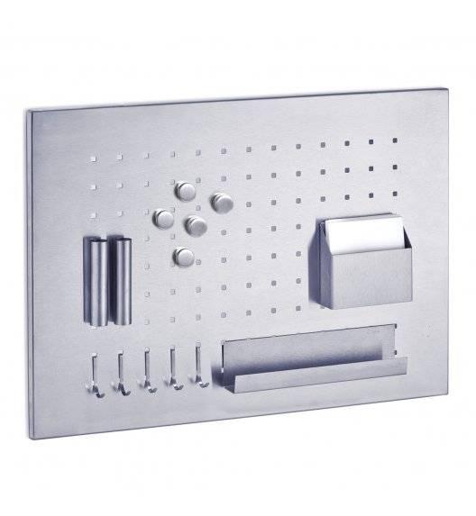 ZELLER Magnetyczna tablica z przyborami 50 x 35 cm / stal nierdzewna