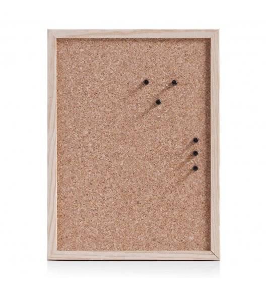 ZELLER Tablica korkowa 30 x 40 cm / kolor naturalny