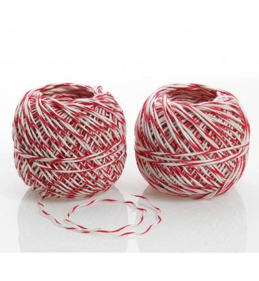 KUCHENPROFI Sznurek do pieczenia, 2x50m / biało-czerwony