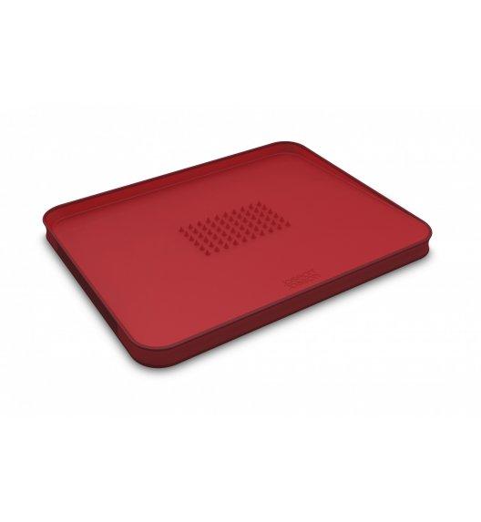 JOSEPH JOSEPH Cut&Carve Duża deska do krojenia 37,5 cm / czerwona / tworzywo sztuczne / Btrzy