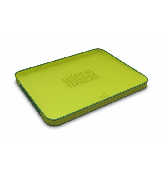 JOSEPH JOSEPH Cut&Carve Duża deska do krojenia 37,5 cm / zielona / tworzywo sztuczne / Btrzy