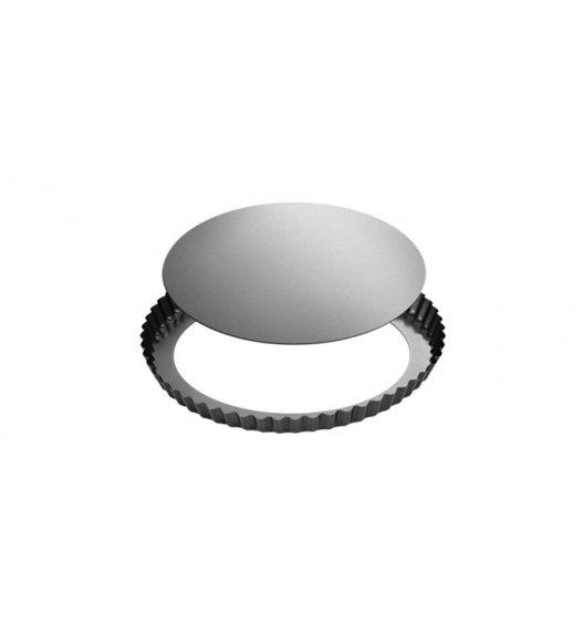 Forma do pieczenia tarty z falistym brzegiem i wyjmowanym dnem 28 cm Tescoma powłoka antyadhezyjna.