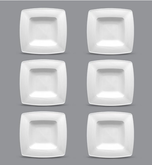LUBIANA VICTORIA Komplet Talerzy głębokich 21,5 cm / 6 el / 6 os / porcelana