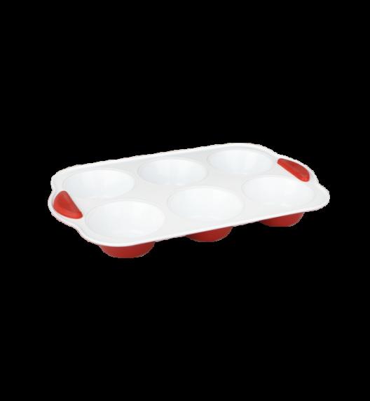 TADAR Foremka ceramiczna na 6 babeczek / silikonowe uchwyty