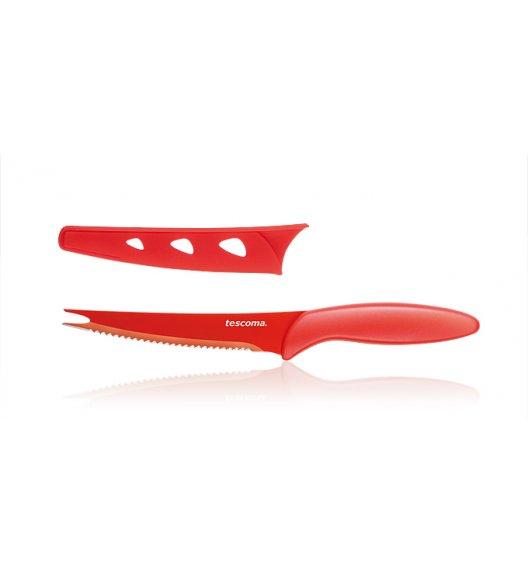 Nóż kuchenny do jarzyn Non-Stick Tescoma Presto Tone 12 cm czerwony.