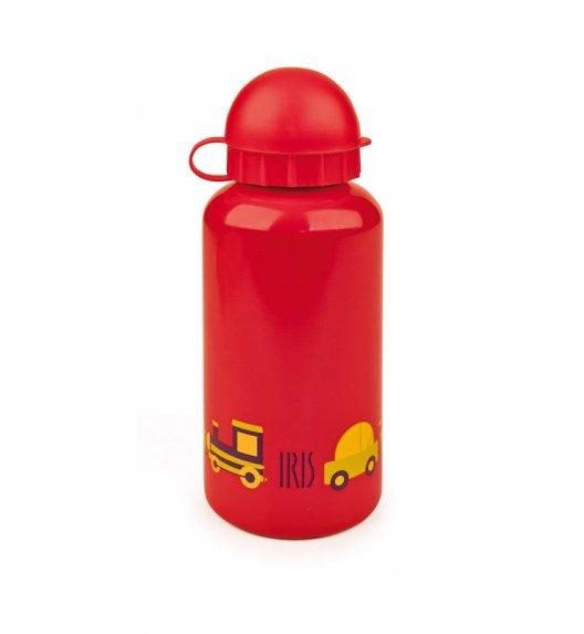 Butelka na napoje dla dzieci Iris w kolorze czerwonym z samochodami 400 ml / Btrzy