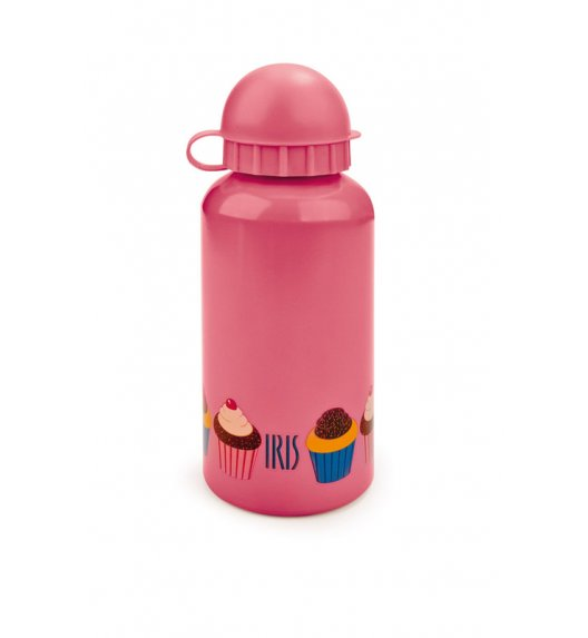 Butelka na napoje dla dzieci Iris w kolorze różowym z kolorowym muffinem 400 ml / Btrzy