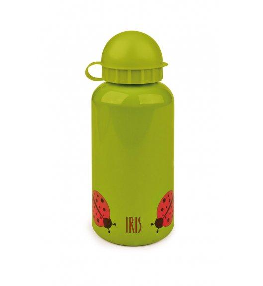 Butelka na napoje dla dzieci Iris w kolorze zielonym z czerwoną biedronką 400 ml / Btrzy