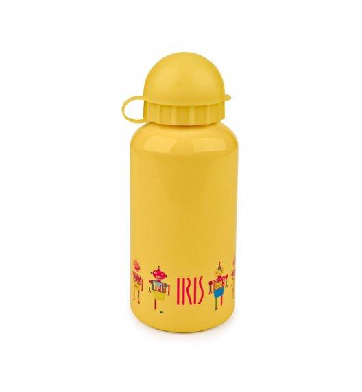 Butelka na napoje dla dzieci Iris w kolorze żółtym z robocikiem 400 ml / Btrzy