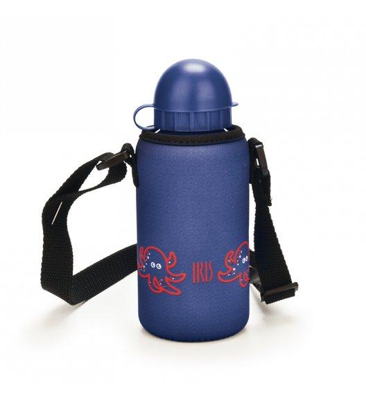 Butelka z pokrowcem na napoje dla dzieci Iris w kolorze granatowym z ośmiorniczką 400 ml / Btrzy