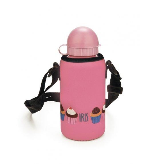 Butelka z pokrowcem na napoje dla dzieci Iris w kolorze różowym z kolorowym muffinem 400 ml / Btrzy