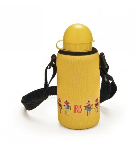 Butelka z pokrowcem na napoje dla dzieci Iris w kolorze żółtym z ciężarówką 400 ml / Btrzy