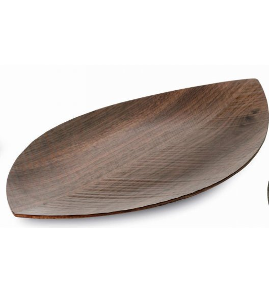 Taca do serwowania Legnoart Leaf wykonana z drewna orzechowego 44,5 x 25 cm. Btrzy.