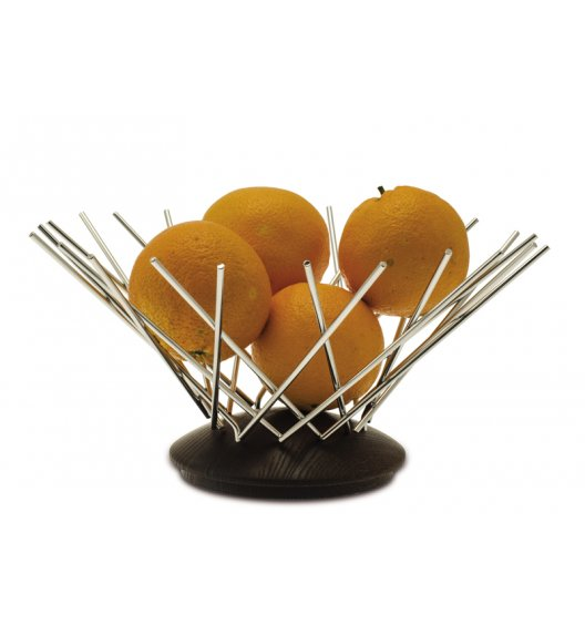 Legnoart Snowflake Kosz na owoce wykonany ze stali połączonej z drewnem. Btrzy.