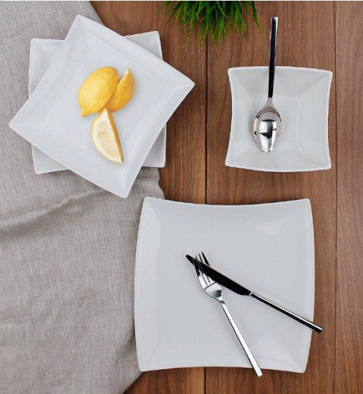 DUO WHITE Komplet obiadowy 18 el / 6 osób / porcelana