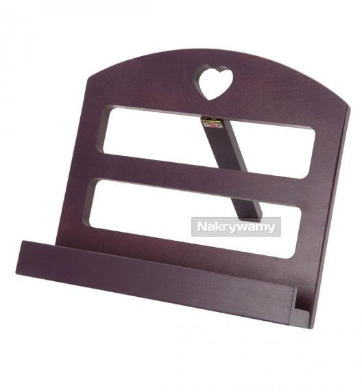 Gald stojak drewniany na książkę kucharską w kolorze oberżyna. Polski produkt. NK 0008 / EAN 5901832920083.