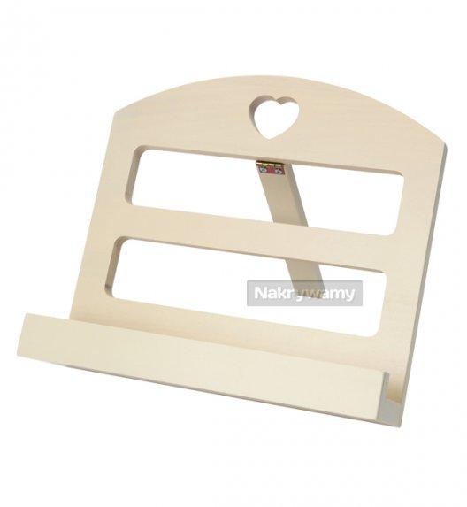 Gald stojak drewniany na książkę kucharską w kolorze krem. Polski produkt. NK 0185 / EAN 5901832921851.