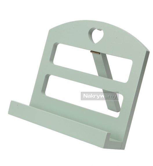 Gald stojak drewniany na książkę kucharską w kolorze sage green. Polski produkt. NK 0187 / EAN 5901832921875.