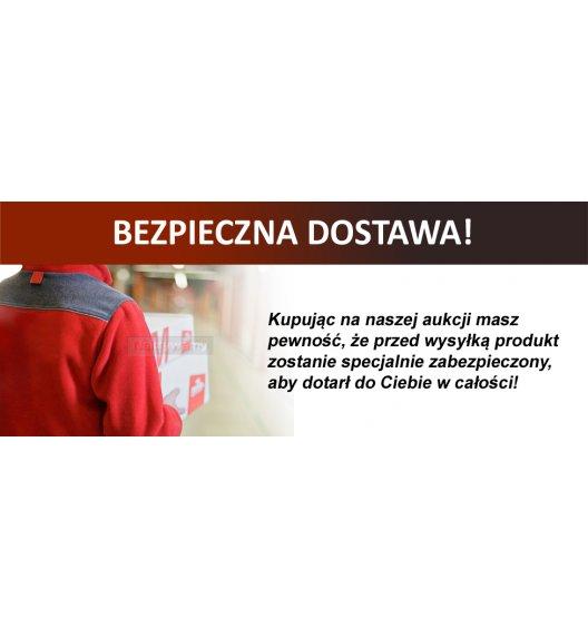 Gald Zestaw pojemników na 4 przyprawy z podkładką drewnianą w kolorze brązowym. Nakrętki połysk. Polski produkt. NK 0257 / EAN 5901832922575.