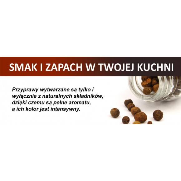 Gald półka drewniana w kolorze venge z 16 przyprawami. Nakrętki połysk. Polski produkt. NK 0123 / EAN 5901832921233.