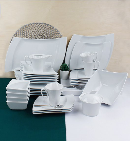 LUBIANA WING Serwis obiadowo-kawowy 68 el / 12 osób / porcelana + GRATIS! 49 ZŁ