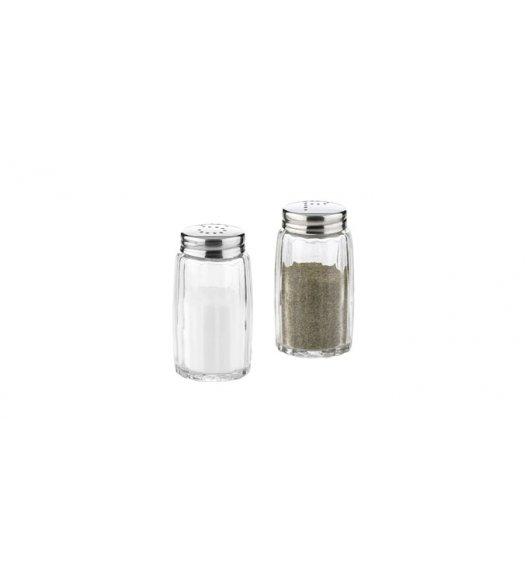 TESCOMA CLASSIC Komplet pojemników solniczka i pieprzniczka ze stali nierdzewnej i wytrzymałego szkła,