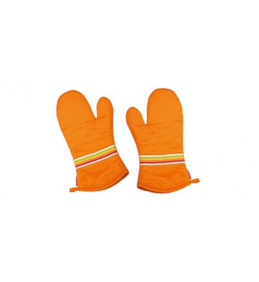 Rękawice kuchenne 100% BAWEŁNA Tescoma Tone pomarańczowe. ZOBACZ FILM.