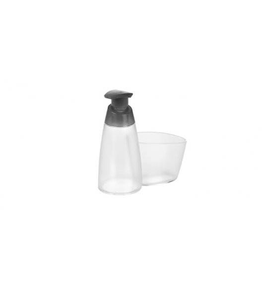 TESCOMA ON LINE pojemnik z dozownikiem na mydło lub płyn do naczyń, 350 ml MIEJSCE NA GĄBKĘ Szary