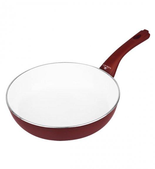 GERLACH HARMONY Patelnia z powłoką ceramiczną ø 28 cm indukcja / bordo