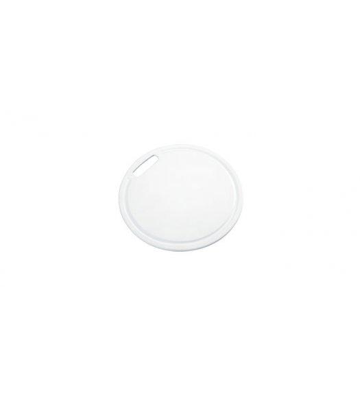 TESCOMA PRESTO Okrągła deska do krojenia BIAŁA, 24 cm