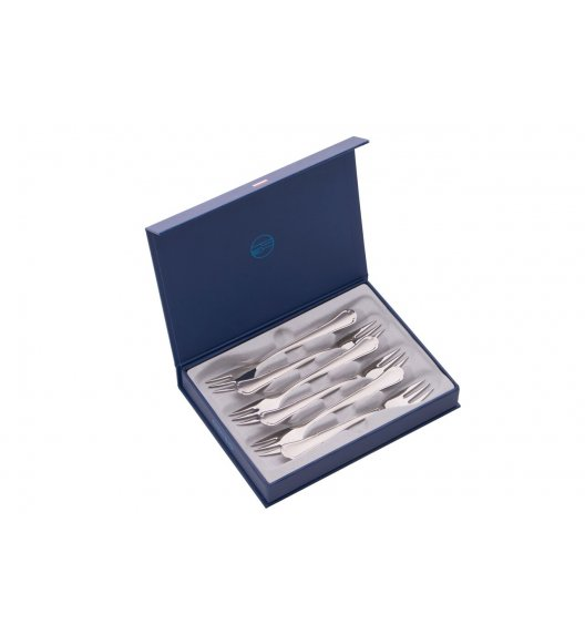 ODISO 2139 ROMA Sztućce Komplet widelczyków deserowych w opakowaniu prezentowym / Satynowane / Stal nierdzewna 18/10 / Gwarancja wieczysta