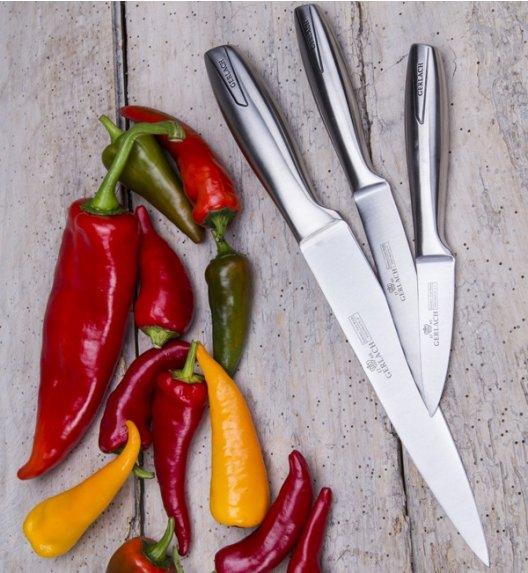 GERLACH MODERN Komplet 5 noży w bloku + ostrzałka 2w1 / białe
