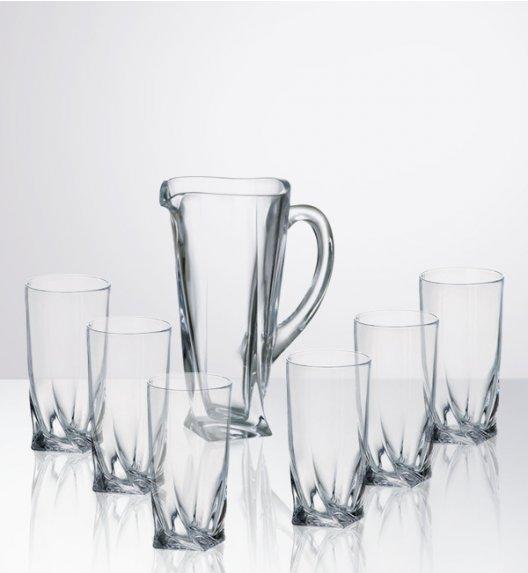 BOHEMIA QUADRO Komplet Dzbanek + szklanki do drinków, napojów / 7 el / szkło kryształowe CR8A500