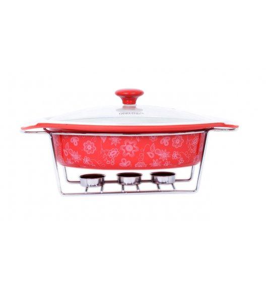 ODELO Ceramiczny podgrzewacz do potraw 1,9 L CZERWONY OD1148R