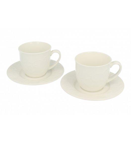 DUO HEMINGWAY Komplet 2 filiżanek 250 ml ze spodkami / porcelana
