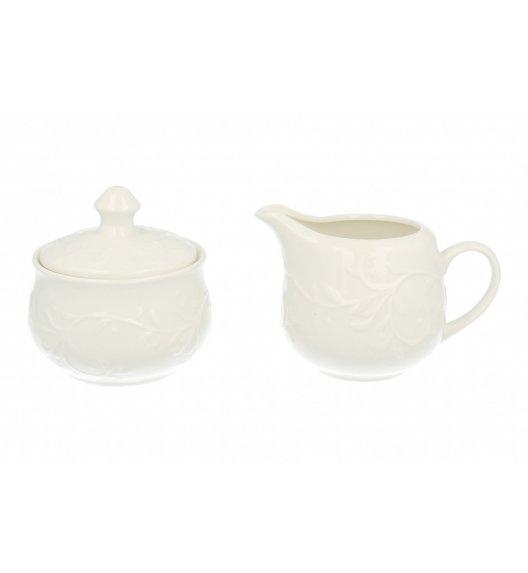 DUO HEMINGWAY Komplet cukiernica z mlecznikiem 200 ml / porcelana
